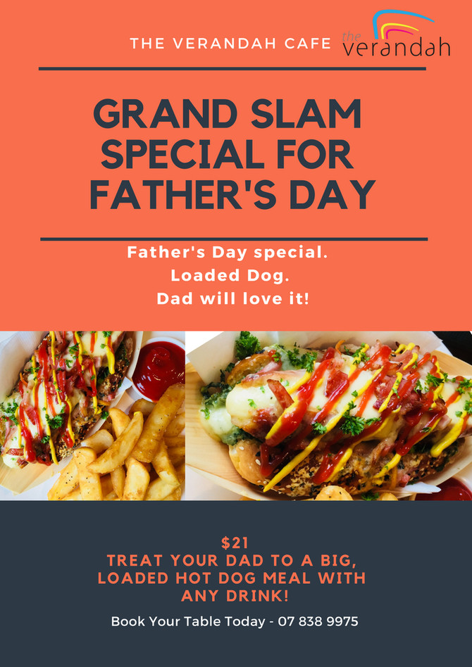 Grand Slam Special For Father's Day.  Loaded Dogs!