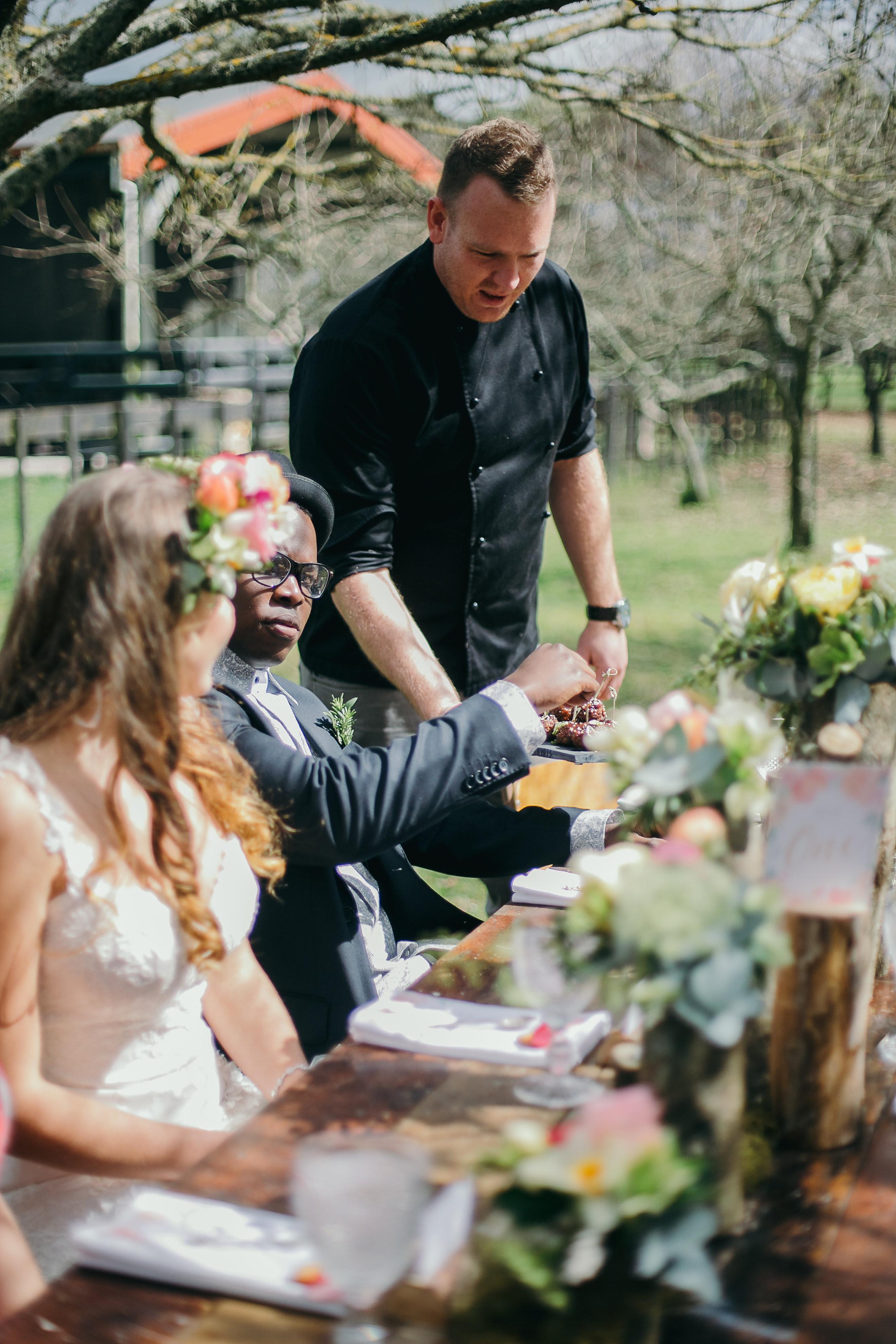 Wedding catering consultation