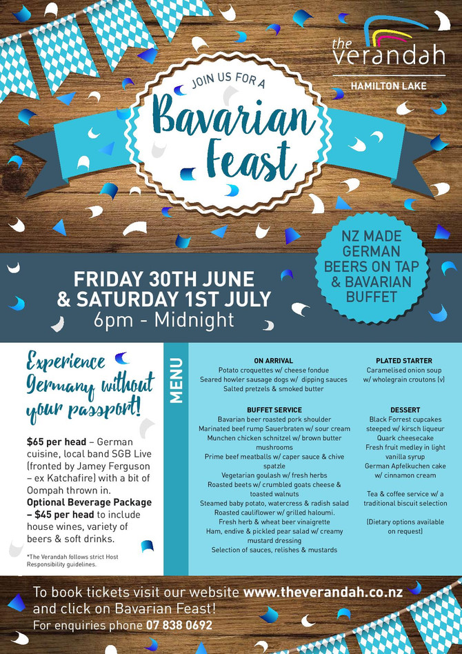 Tickets Selling Fast, Get in Quick - A Mid Winter Event! -  Bavarian Feast -