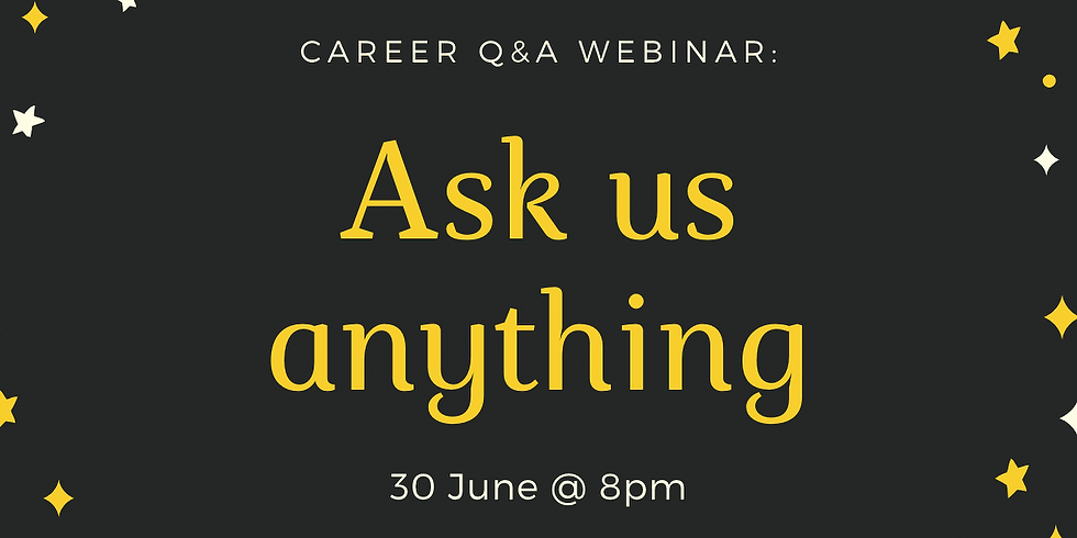 Career conversation: ask us anything and we'll answer