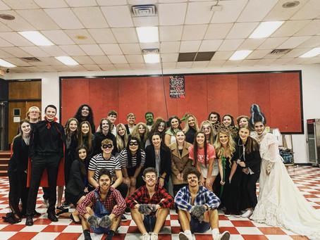 Stigler High School Drama Team performs Spook House