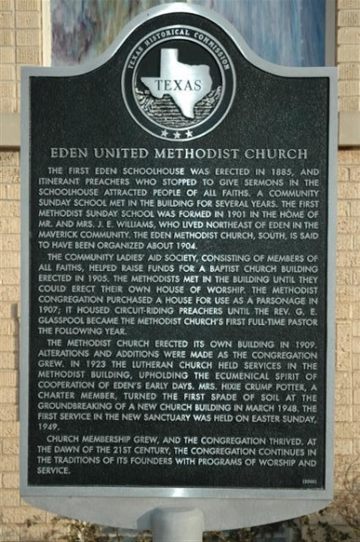Eden Methodist Church Marker