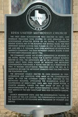 Eden Methodist Church Marker