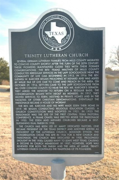 Trinity Lutheran Church Marker