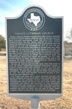 Trinity Lutheran Church Marker