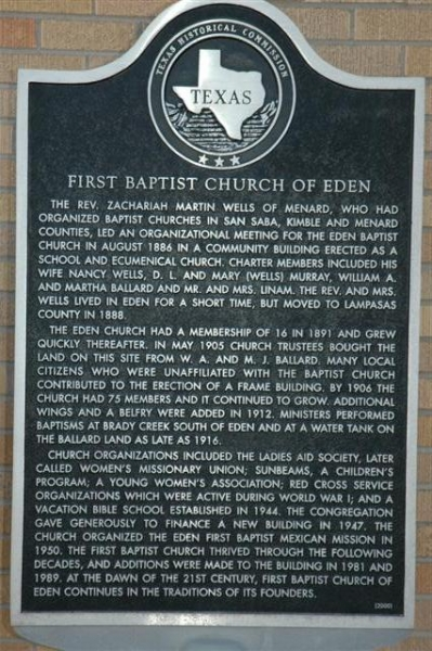 First Baptist Church Marker