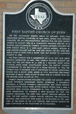 First Baptist Church Marker