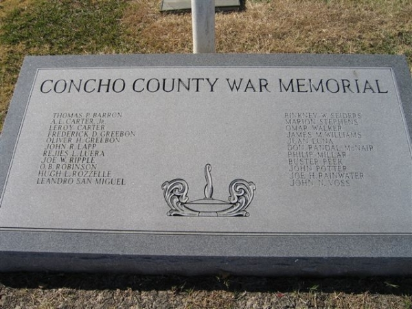 Concho County War Memorial