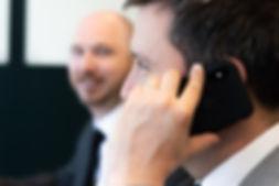 Team b. Employee on phone