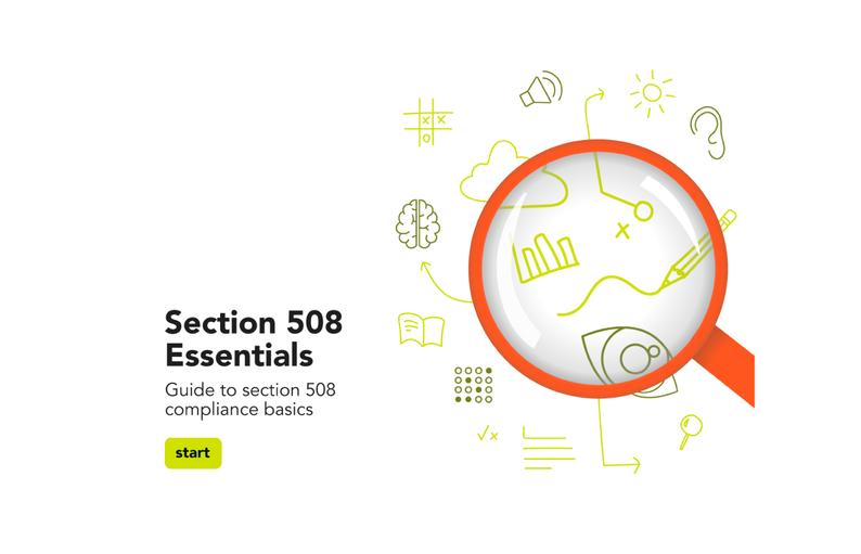 Section 508 Essentials Screencapture
