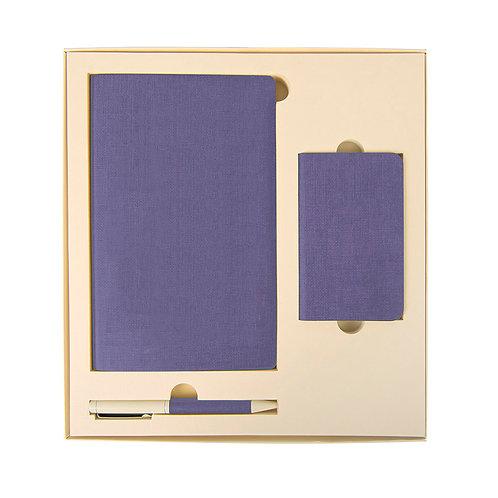 Набор Sleek: универсальное зарядное устройство, блокнот, ручка