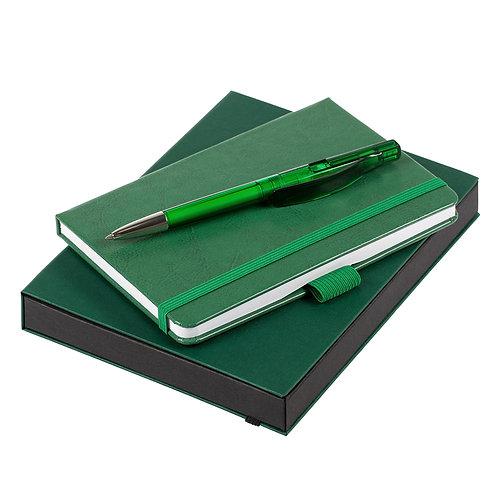 Набор Idea: линованный блокнот на резинке и шариковая ручка