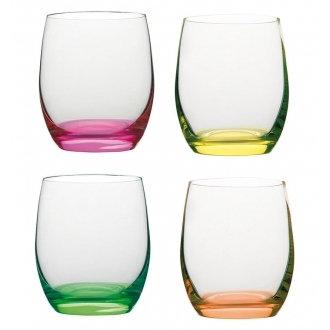 Набор из 4 стаканов из цветного стекла