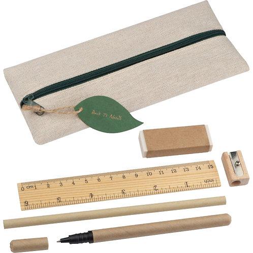 Набор: ручка шаркиовая, карандаш, линейка