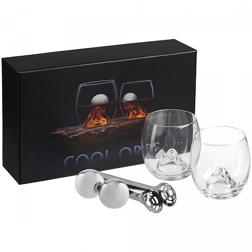 Набор для виски Cool Orbs: два бокала и охлаждающие шарики