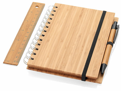 Набор Concept: блокнот на пружине, ручка, линейка
