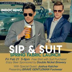 "Indochino ""Sip & Suit"" Invite"