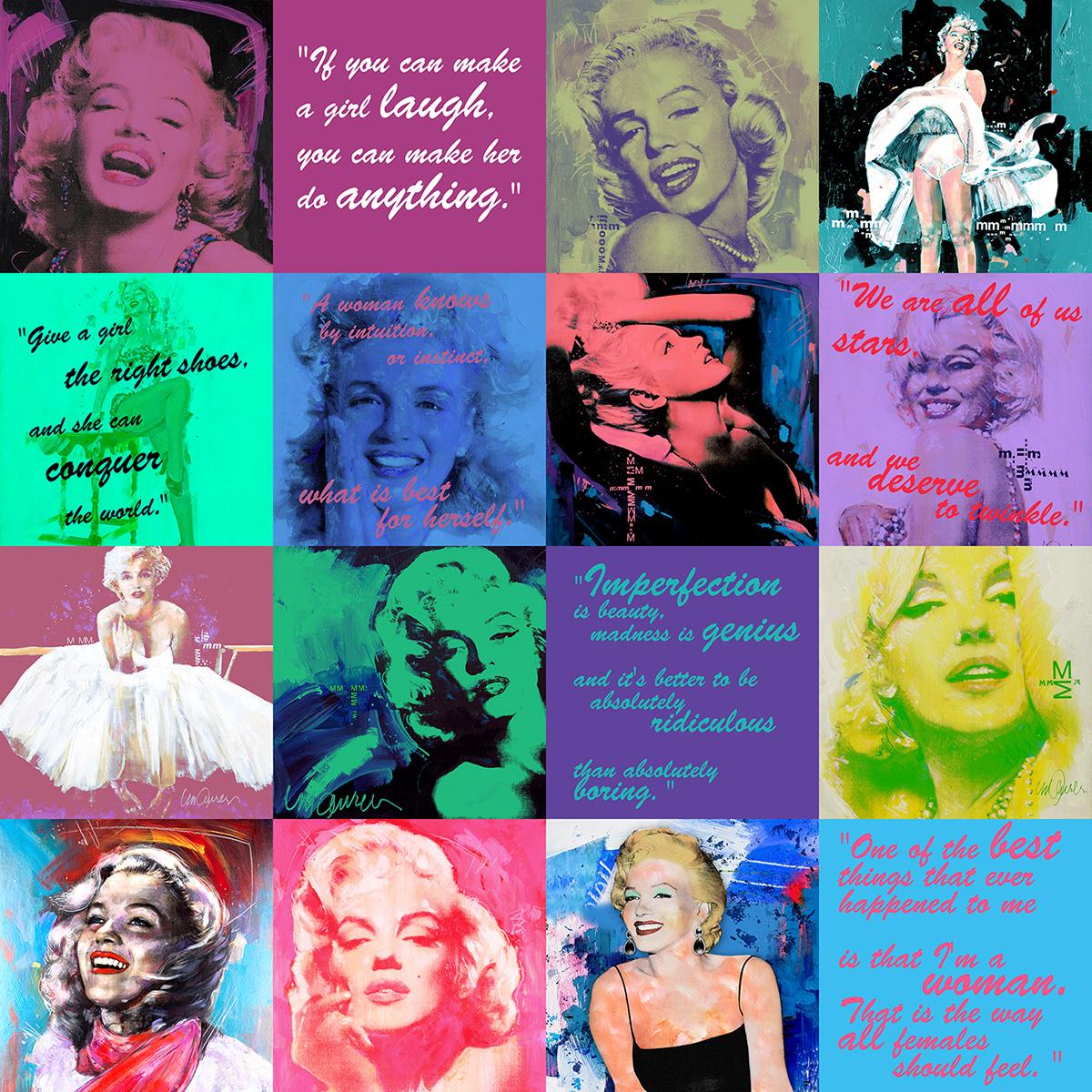 Marilyn Monroe repeat pattern