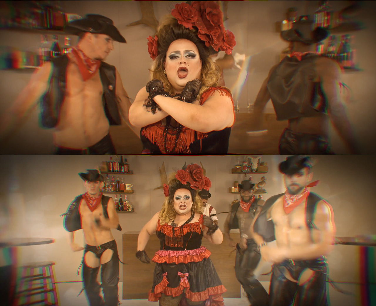"Ginger Minj ""BadBad Boy"" Video Still"