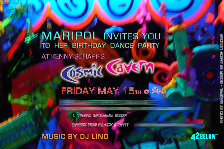 MARIPOL X COSMIC CAVERN INVITE