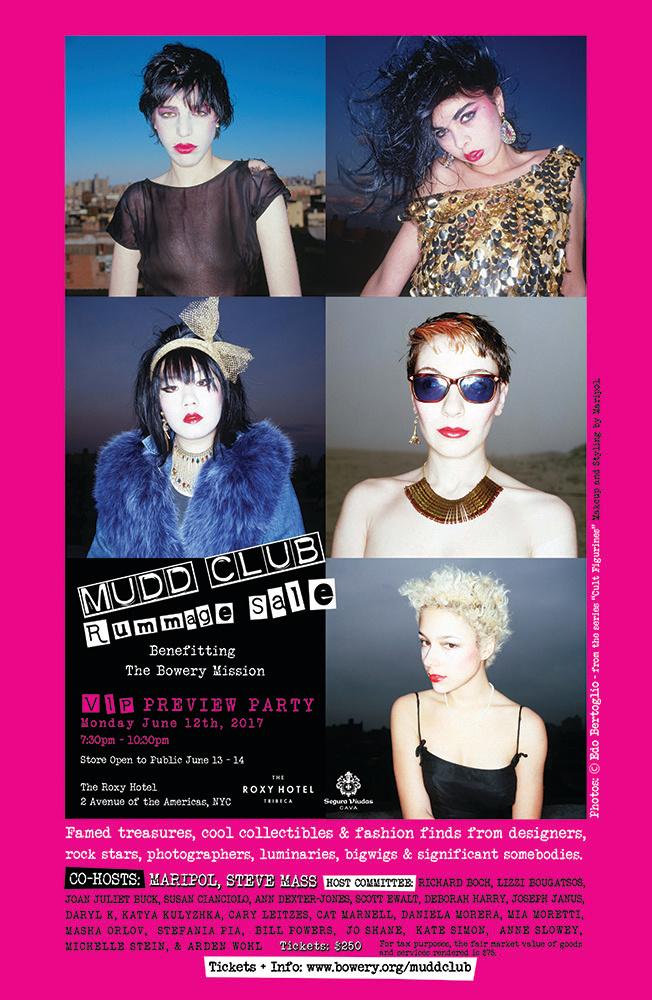 MUDD CLUB Rummage Sale Poster