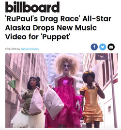 "Alaska's ""PUPPET"" Video on BILLBOARD"