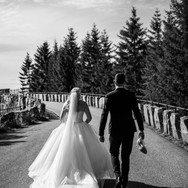 Stemningsbilde fra Marte og Alexander sitt bryllup 2020