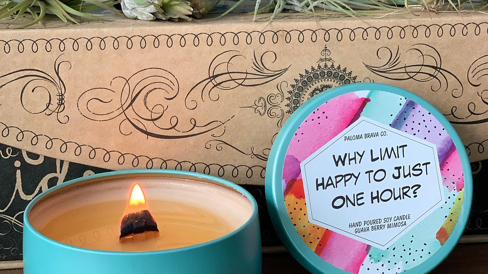 Why Limit Happy to Just One Hour? | Guava Berry Mimosa Soy Candle