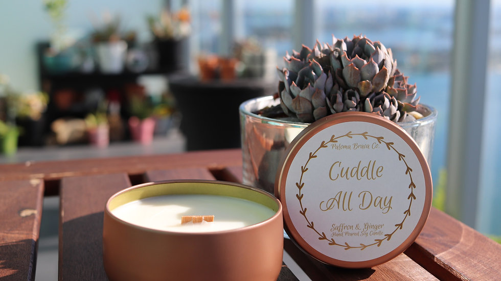 Cuddle All Day  | Saffron & Ginger Soy Candle
