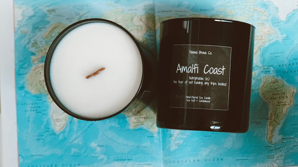 Amalfi Coast | Notriphobia | Sea Salt & Sandalwood Soy Candle