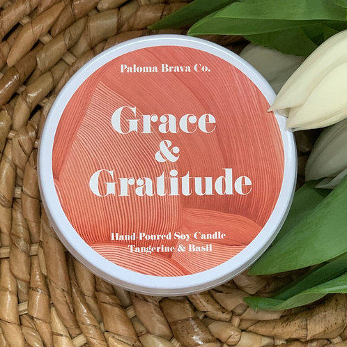 Grace & Gratitude | Tangerine & Basil Soy Candle