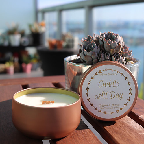 Cuddle All Day    Saffron & Ginger Soy Candle
