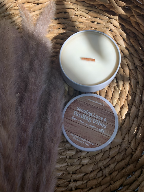Sending Love & Healing Vibes | Rosemary & Sage Soy Candle