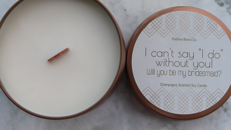 "I Can't say ""I do"" Without You!  