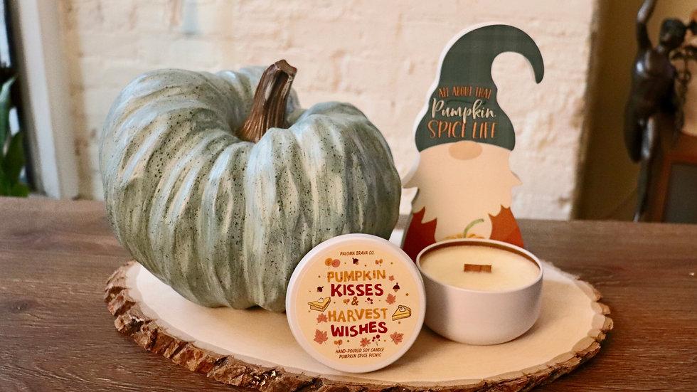 Pumpkin Kisses & Harvest Wishes | Pumpkin Spice Picnic Soy Candle