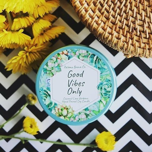 Good Vibes Only  | Coconut Lime Verbena Soy Candle