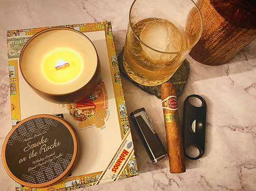 Smoke on the Rocks  | Whiskey Soy Candle