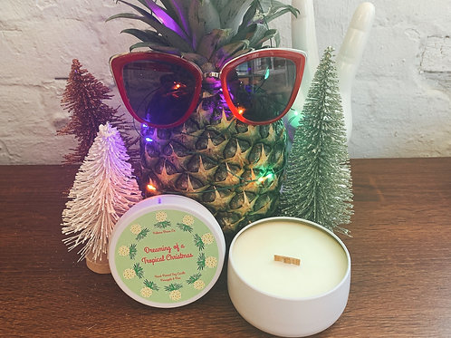 Dreaming of a Tropical Christmas | Pineapple & Pine  Soy Candle