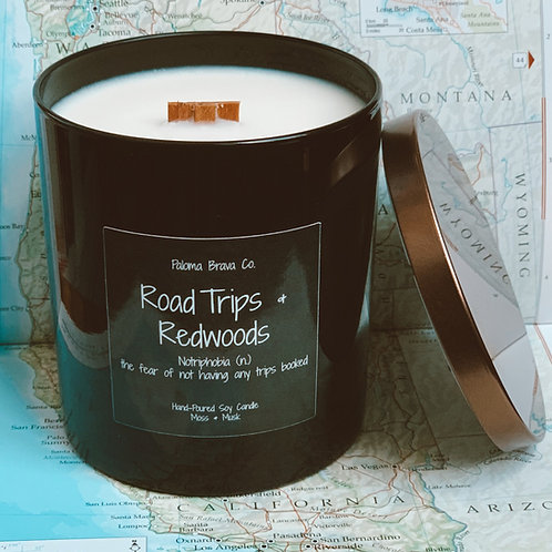 Road Trips & Redwoods   Notriphobia   Moss & Musk Soy Candle