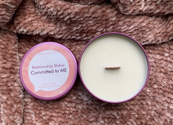 Relationship Status: Committed to ME | Ginger & Amber Soy Candle