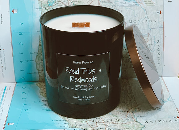 Road Trips & Redwoods | Notriphobia | Moss & Musk Soy Candle