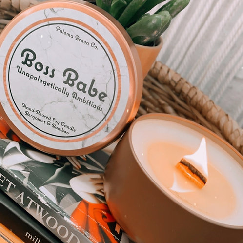 Boss Babe Unapologetically Ambitious | Bergamot & Bamboo Scented Soy Candle