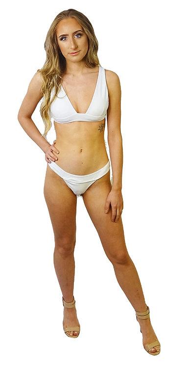 White Solid Bikini