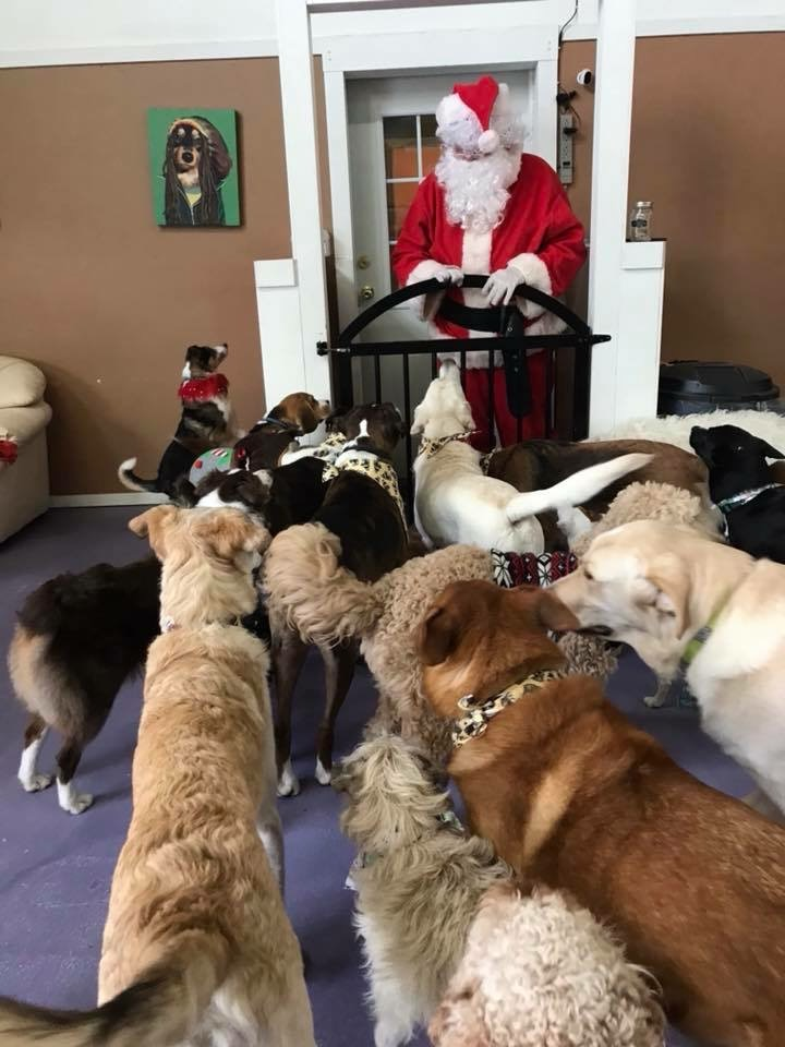 Santa Drops in for a visit!
