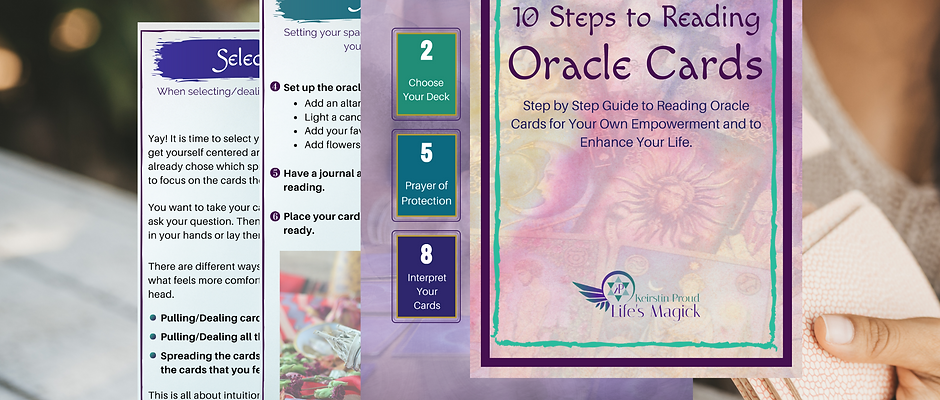 10 Steps to Reading Oracle Cards Printed Version