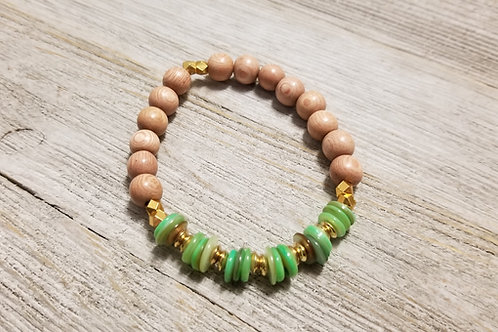 Green Goddess Stretch Bracelet