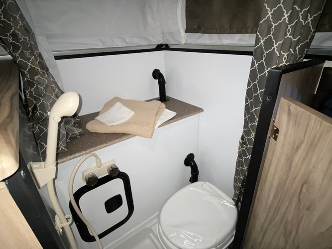 The SS1251 comes with an indoor toilet and shower!