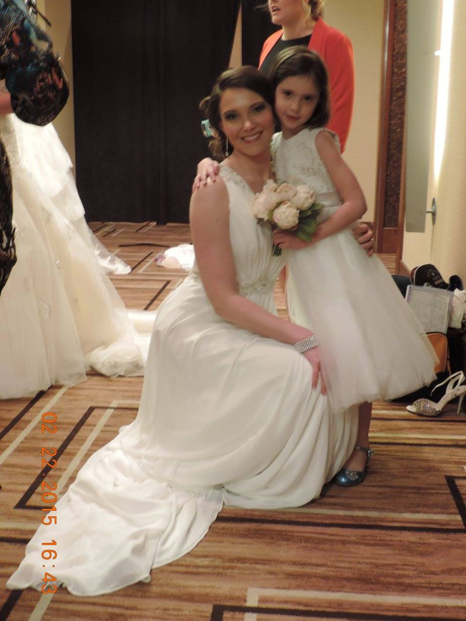 Sophia Tolli Bridal Gown and Joan Calabrese Flower Girl Dress St. Louis