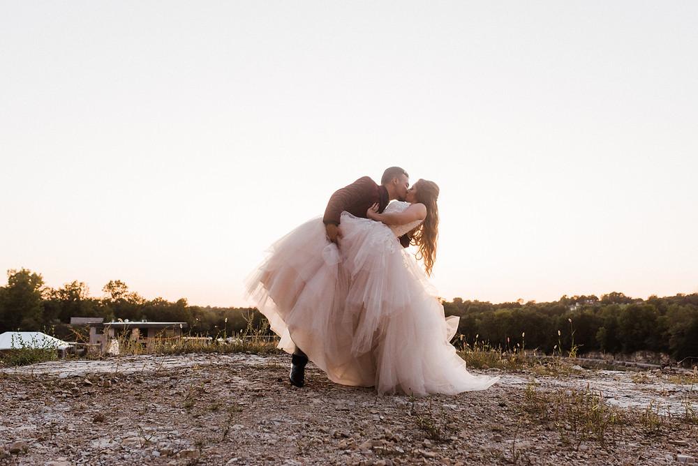 allure romance wedding gown st. louis wedding