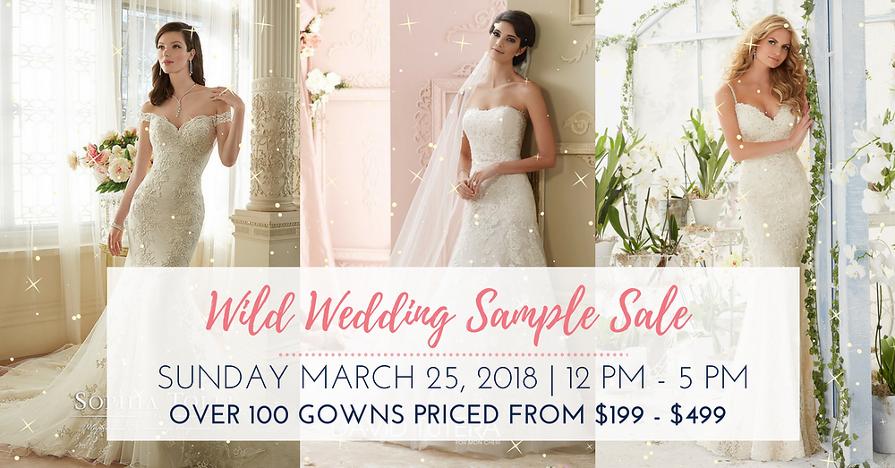 wild wedding sample sale